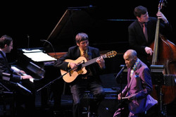 With Jon Hendricks at Lincoln Center