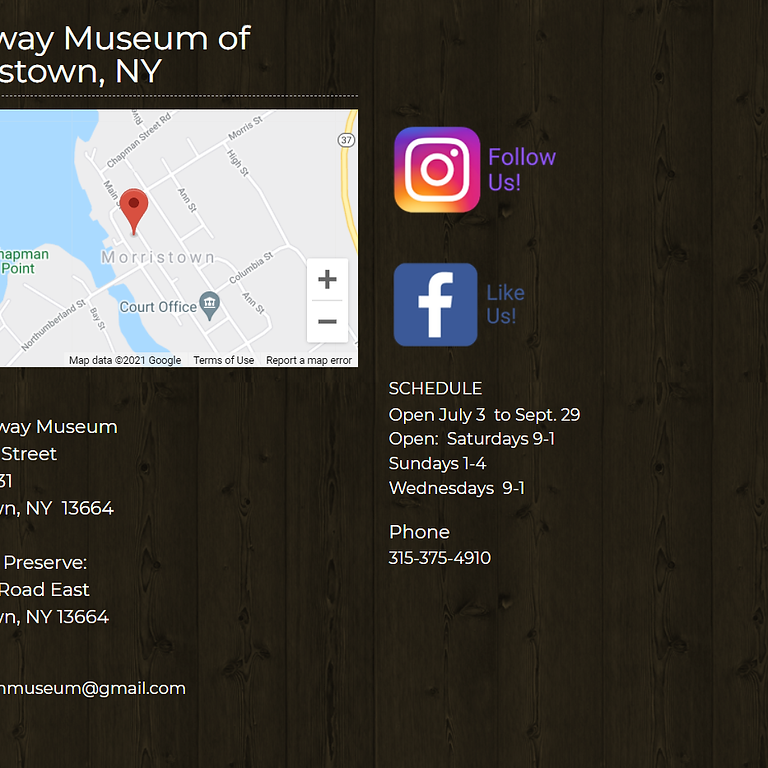 The Morristown Gateway Museum 2021 Concert Series