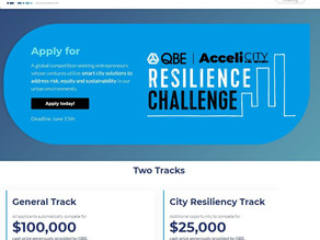 Join us in this year's competition for QBE AcceliCITY Resilience Challenge.