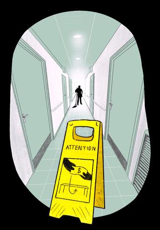 Illustration sur le travail au noir dans les CHSLD