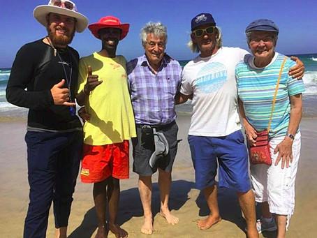 Surf Coach saves a life at Diaz Beach