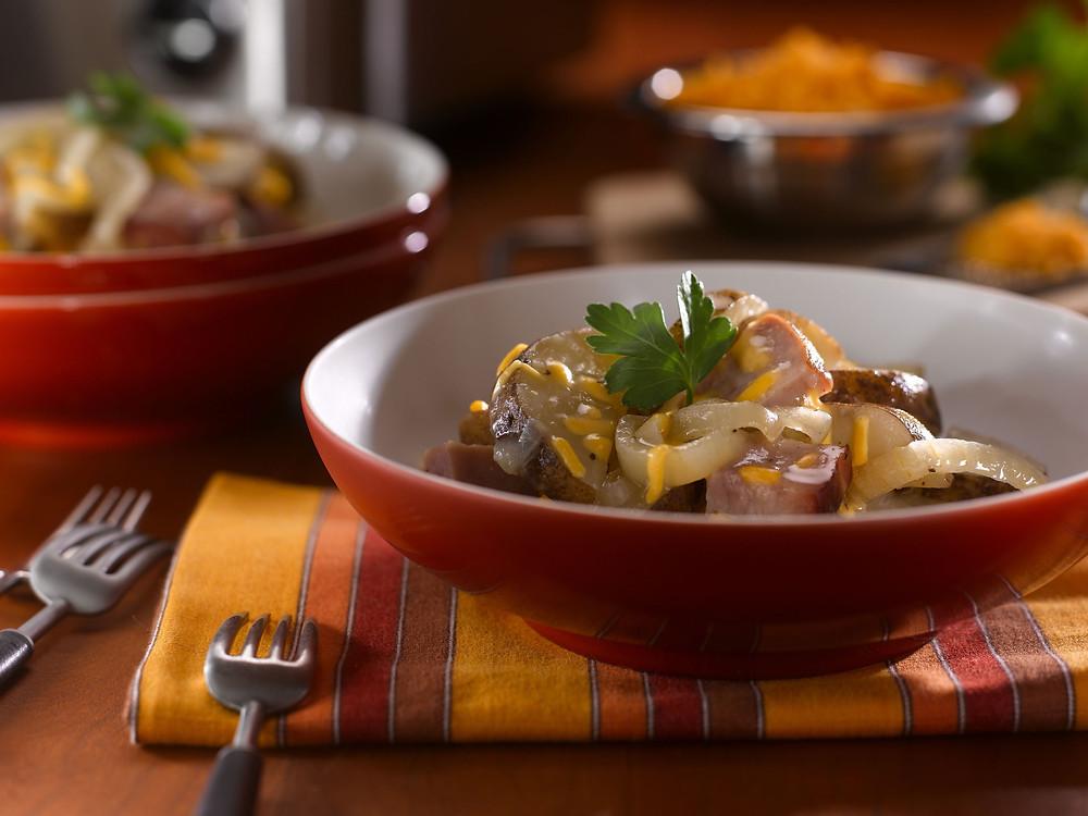 Cheesy Idaho Potatoes & Ham