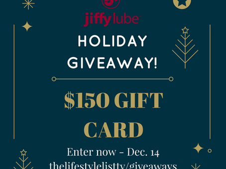 Holiday Travel Jiffy Lube Gift Card Giveaway