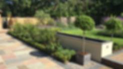 Tuscan style garden with a beautiful planting plan near Basingstoke