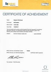 Ventilation Achievement Certificate