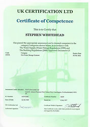 Hot Water Competence Certificate