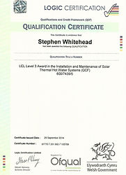 Solar Thermal Qualification Certificate