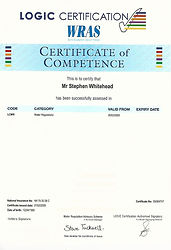 Water Regulations Competence Certificate