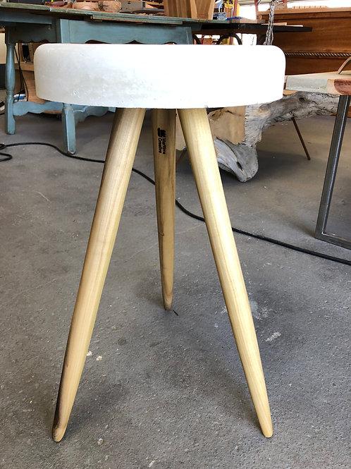 Concrete Stool with Poplar Legs
