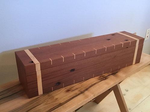 Rustic Mahogany Keepsake Box with Maple Inlay