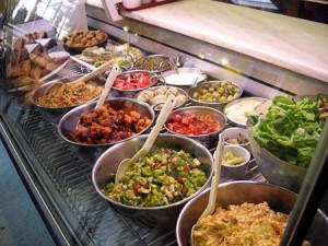 Our epic salad counter!