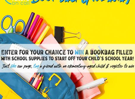 Back 2 School Bookbag Giveaway