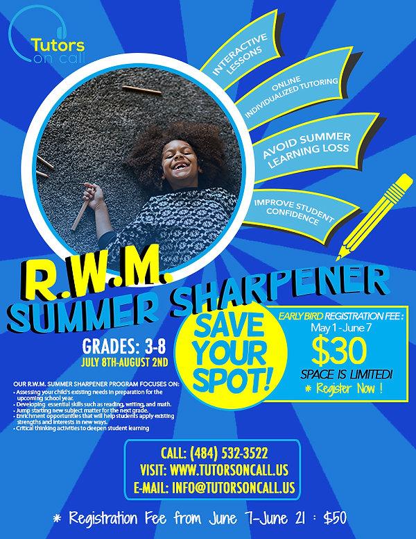 R.W.M. Summer Sharpener Program (young g