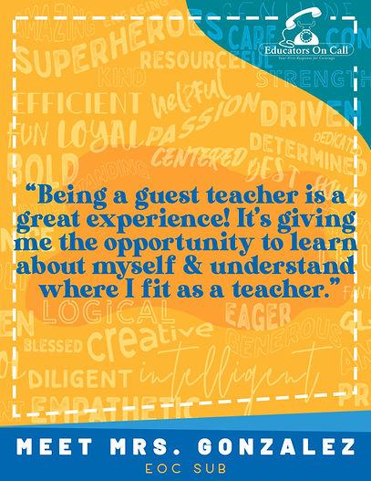Meet Mrs Gonzalez - Recruitment Flyer 2.