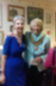 Mayor Julia Bishop with Wendy Fouracre (