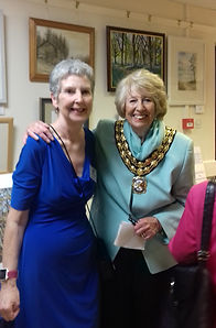 Mayor Julia Bishop with Wendy Fouracre (