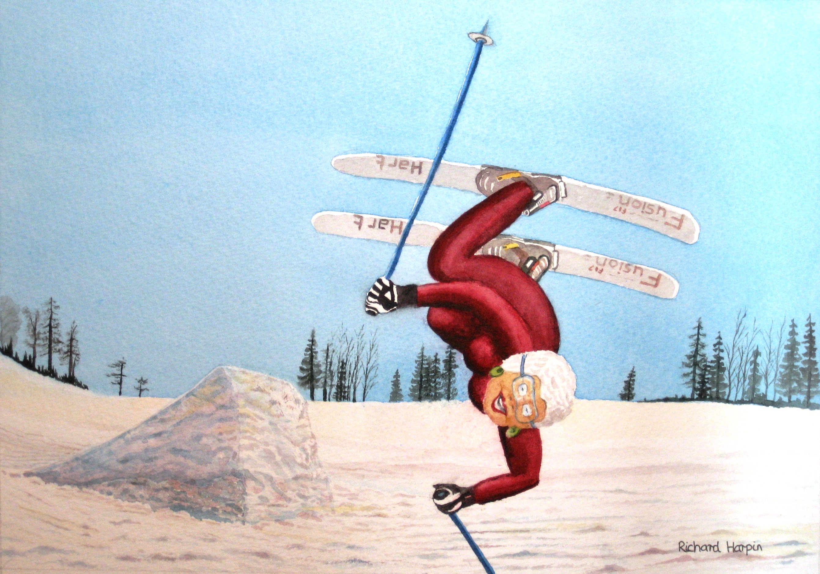 Ethel found she could still ski!