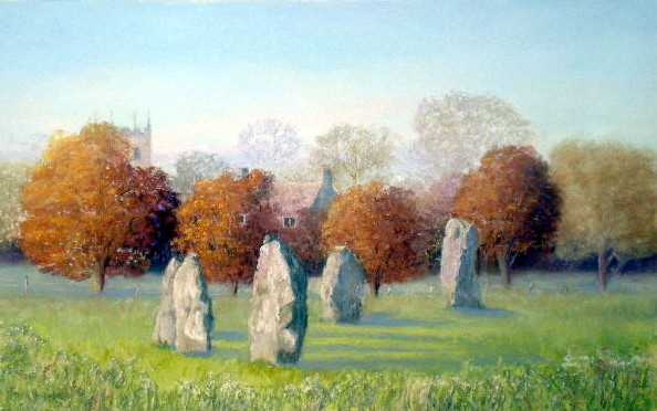 Towards Avebury Church