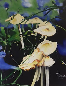 Mushrooms a painting by Luke Richardson.