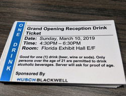 Opening Reception Drink Ticket