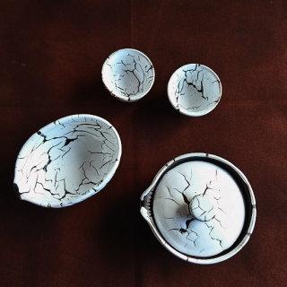 おもてなし煎茶師の 茶器セット (龍爪 梅花皮)