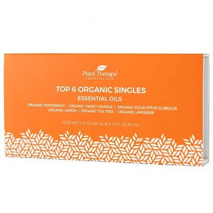 Top 6 Singles Organic Essential Oil Set 10 mL Top 6 Singles Organic Essential O