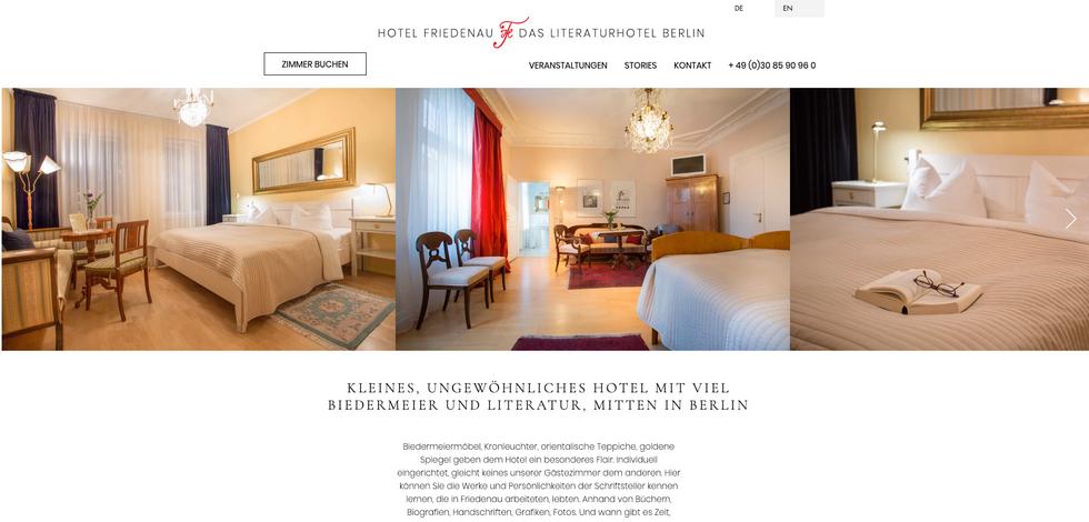 Das Literaturhotel Berlin – Homepage