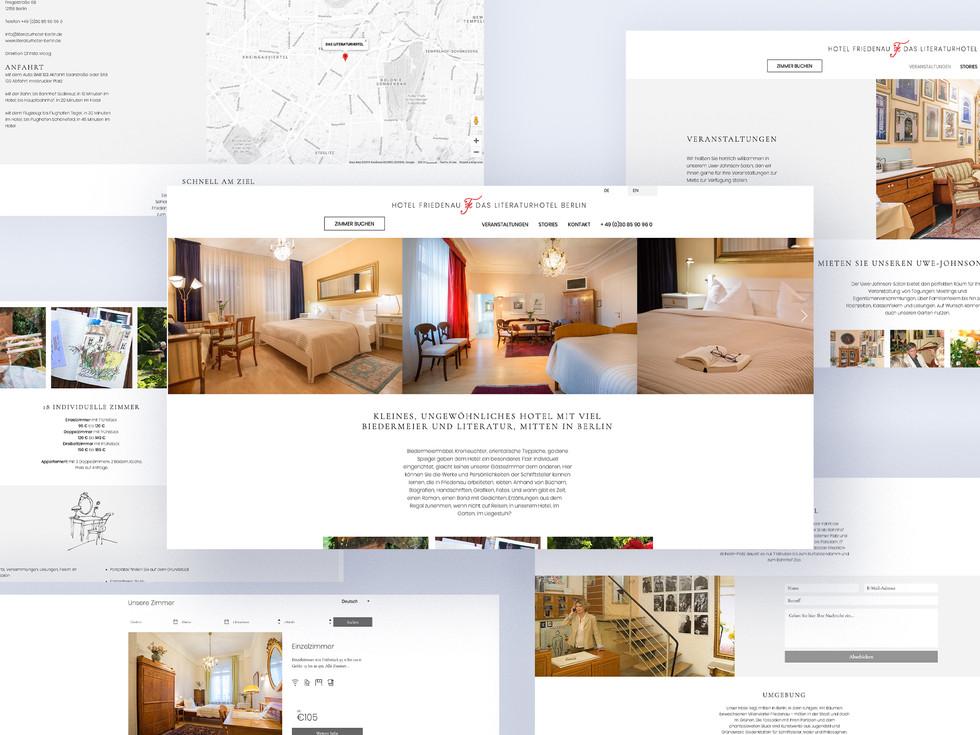 Die Website des Literaturhotels