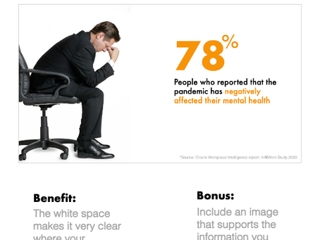 Slide Design: Use white space