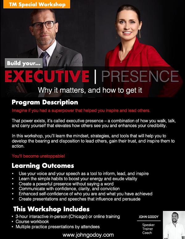 TM Promo - Executive Presence - Program