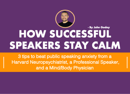 How Successful Speakers Stay Calm