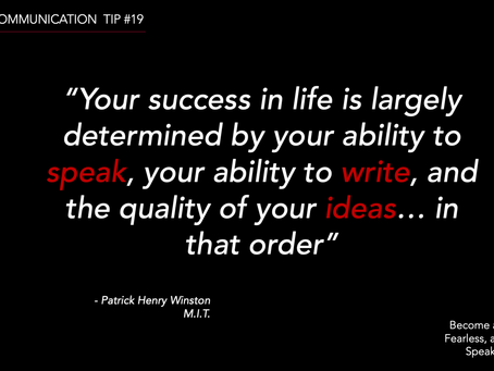 SUCCESS= Speak, Write, Have Quality Ideas