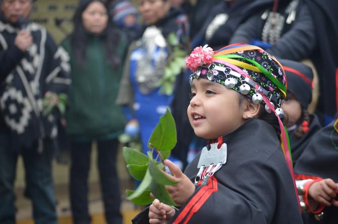 Niñas y niños fueron los protagonistas en ceremonia ancestral de Año Nuevo Mapuche