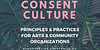 Consent Culture promo image with a link to EventBrite and an image of plants