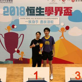 CSS F2 student wins Hang Seng Cup 啓思中學中二生勇奪恒生學界盃