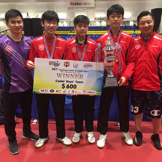 CSS Student wins ITTF Table Tennis Gold Medal in Thailand