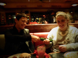 Christmas eve tea with the co  founders of TIA .