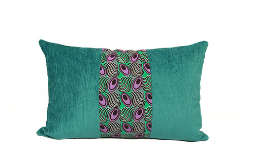 Peacock Purple+Green Bolster