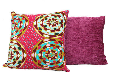 Multicoloured Reversible Cushion Cover Set