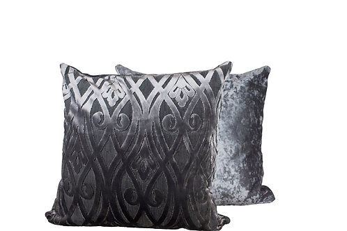 Silver Wrought Cushion Cover Set