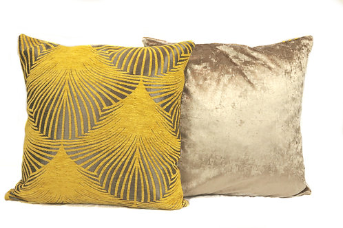 Champagne Flower Cushion Cover Set
