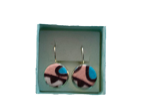 Peachy-Blue Earrings