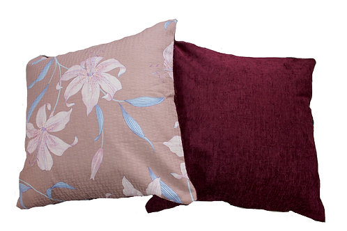 Lilac Lilly Reversible Cushion Cover Set