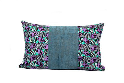 Peacock Purple+Teal Bolster