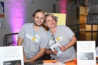 Two GLSEN tabling volunteers at Sparkle.