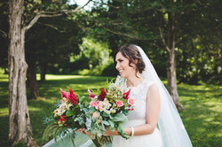 Beautiful Bride and her flowers