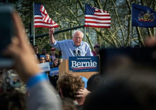 Bernie Sanders, Political Speech, Podium