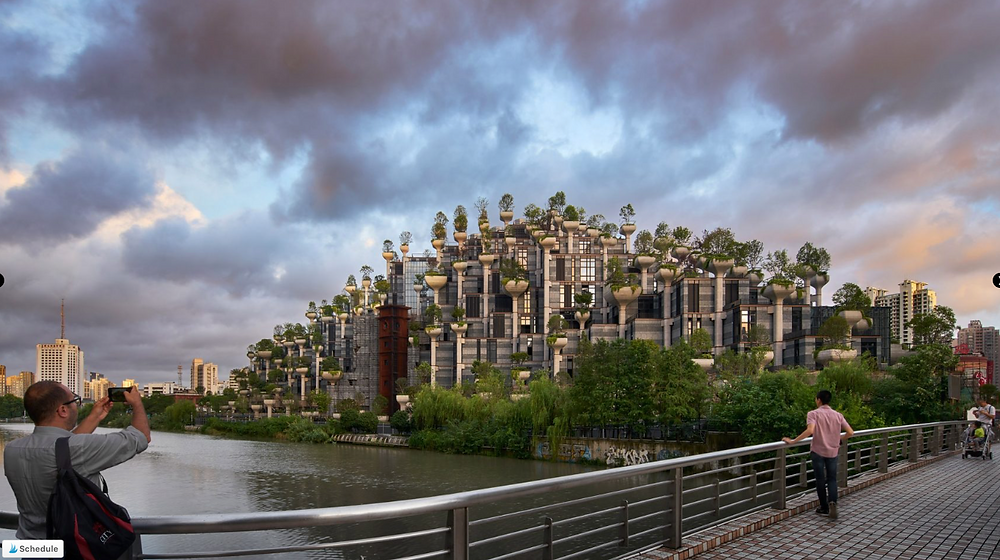 photo of 1000 trees project in Shanghai