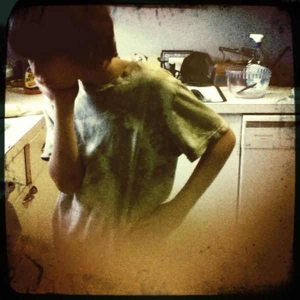 Noah in Kitchen Thinking