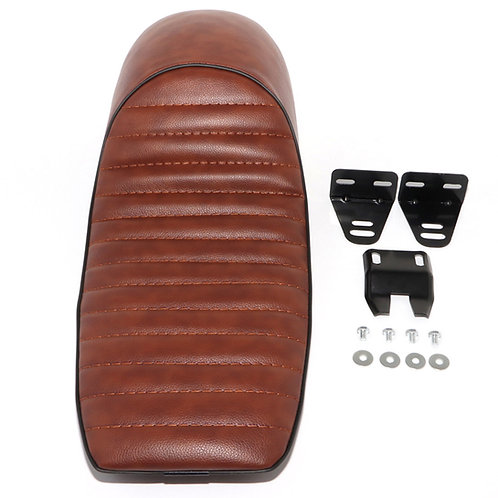 Universal Brown vinyl hump style cafe racer seat
